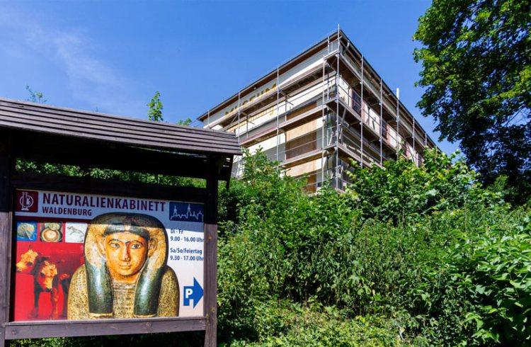 Fassadensanierung des Naturalienkabinetts in Waldenburg, LEADER