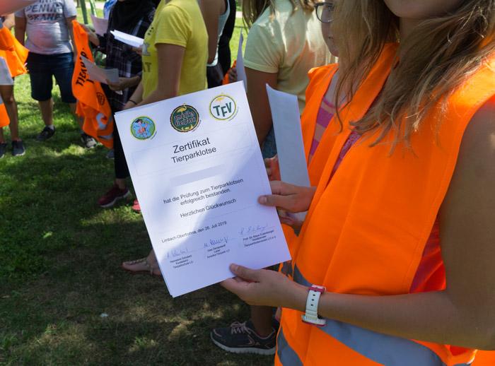 Zertifikat, Tierparklotsen, Limbach-Oberfrohna