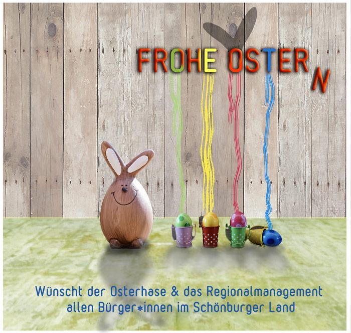 Bild: Osterwünsche vom Regionalmanagement des Schönburger Landes