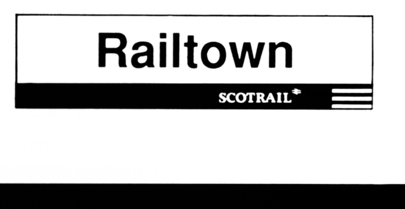 Station name board - ScotRail