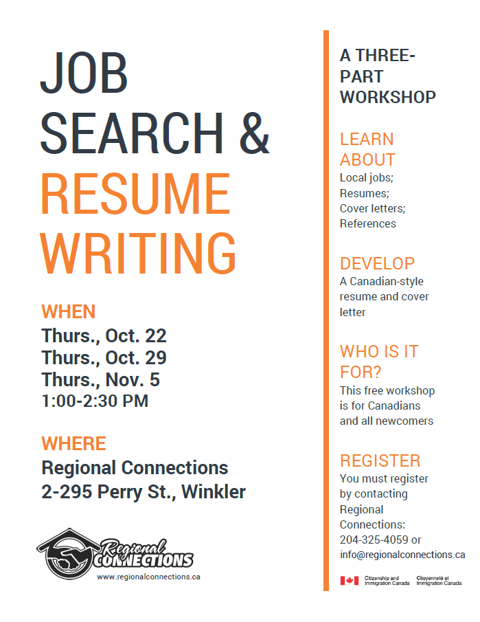 job search amp resume writing workshop regional connections
