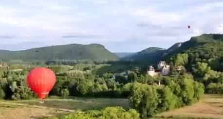 Montgolfière du châteaux de Beynac