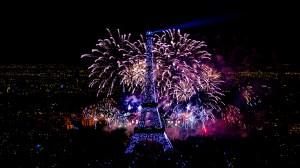 Tour Eiffel feu d'artifice du 14 juillet