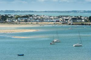Bretagne Morbihan Riantec, vue de la petite mer de Gavres