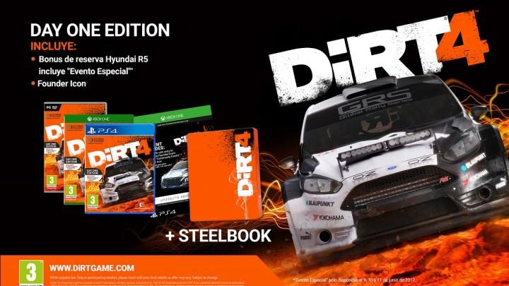 Anunciadas las ediciones Day One, Special y Steelbook de DiRT 4 | Nuevo diario de desarrollo