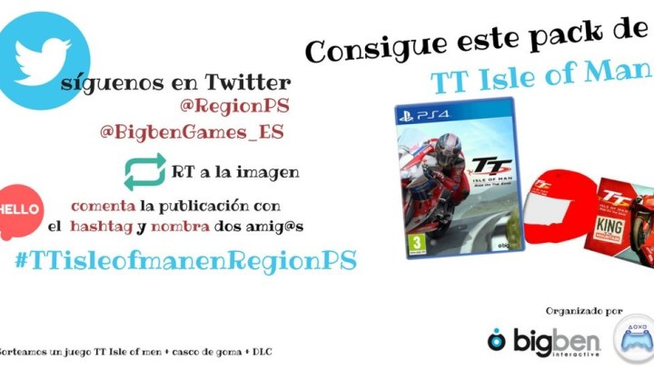 ¡Sorteamos una copia de TT Isle of Man para PS4 + DLC+ Casco de Goma!