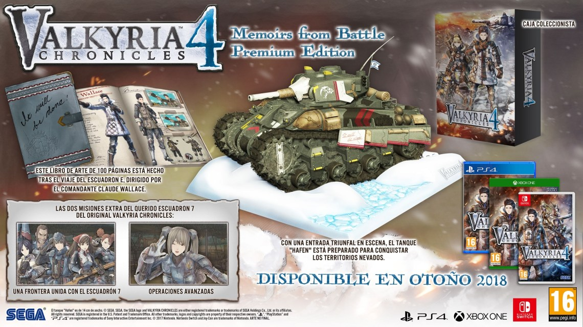Descubre en éste unboxing la edición 'Memoirs from Battle Edition' de Valkyria Chronicles 4