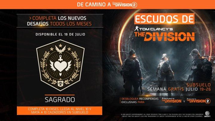 The Division | Un nuevo escudo y semana gratis de Subsuelo