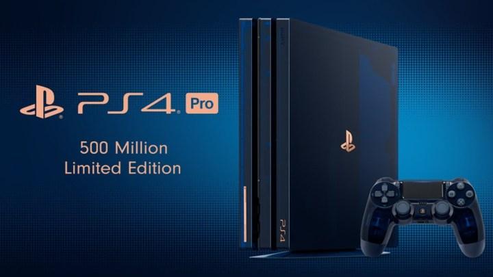 Así es la PS4 Pro 500 Million Limited Edition
