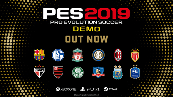 Ya disponible la demostración jugables de Pro Evolution Soccer 2019
