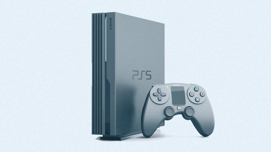 Así será PlayStation 5 según un artista francés | 8K, DualShock 5 con panel táctil para leer notificaciones, HDMI inalámbrico, etc.