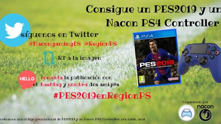 ¡Sorteamos una copia de PES 2019 + Nacon PS4 Controller!