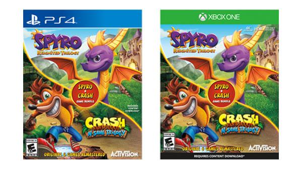 Listado el lanzamiento de un nuevo pack que incluiría Spyro Reignited Trilogy + Crash Bandicoot N. Sane Trilogy