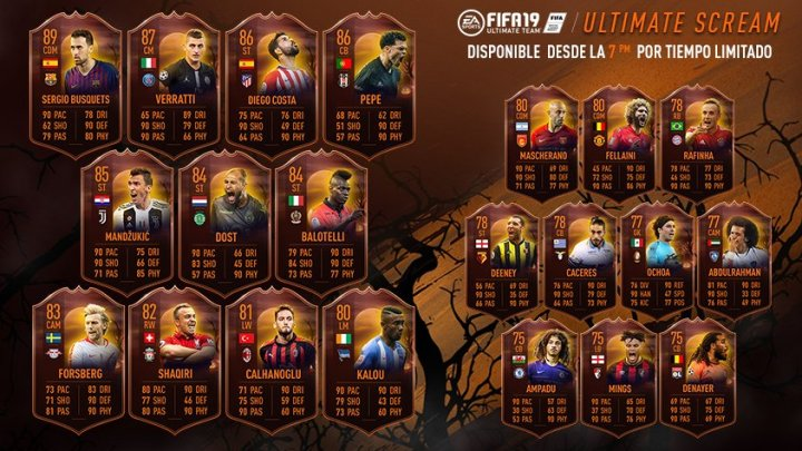 Llega Ultimate Scream para celebrar Halloween en FUT FIFA 19