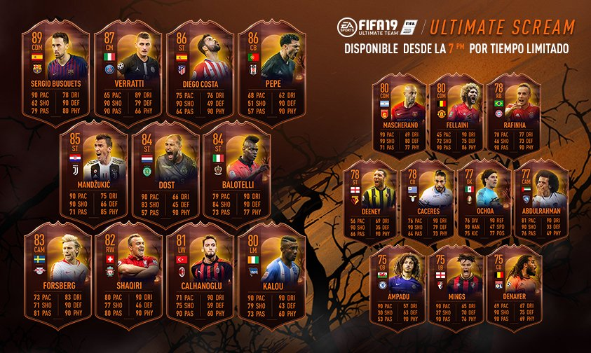 Llega Ultimate Scream para celebrar Halloween en FUT FIFA 19