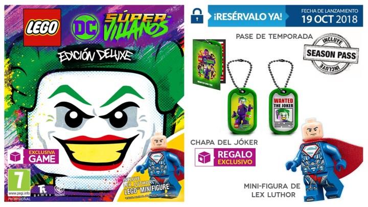 La Edición Deluxe de LEGO DC Súper-Villanos será exclusiva de GAME
