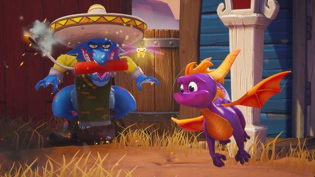Spyro Reignited Trilogy nos presenta el nivel Dino Miles en un nuevo gameplay