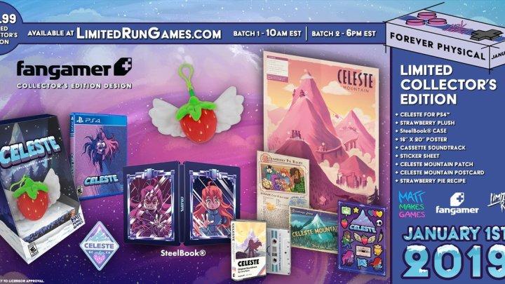 Limited Run Games muestra los contenidos de la edición coleccionista de Celeste