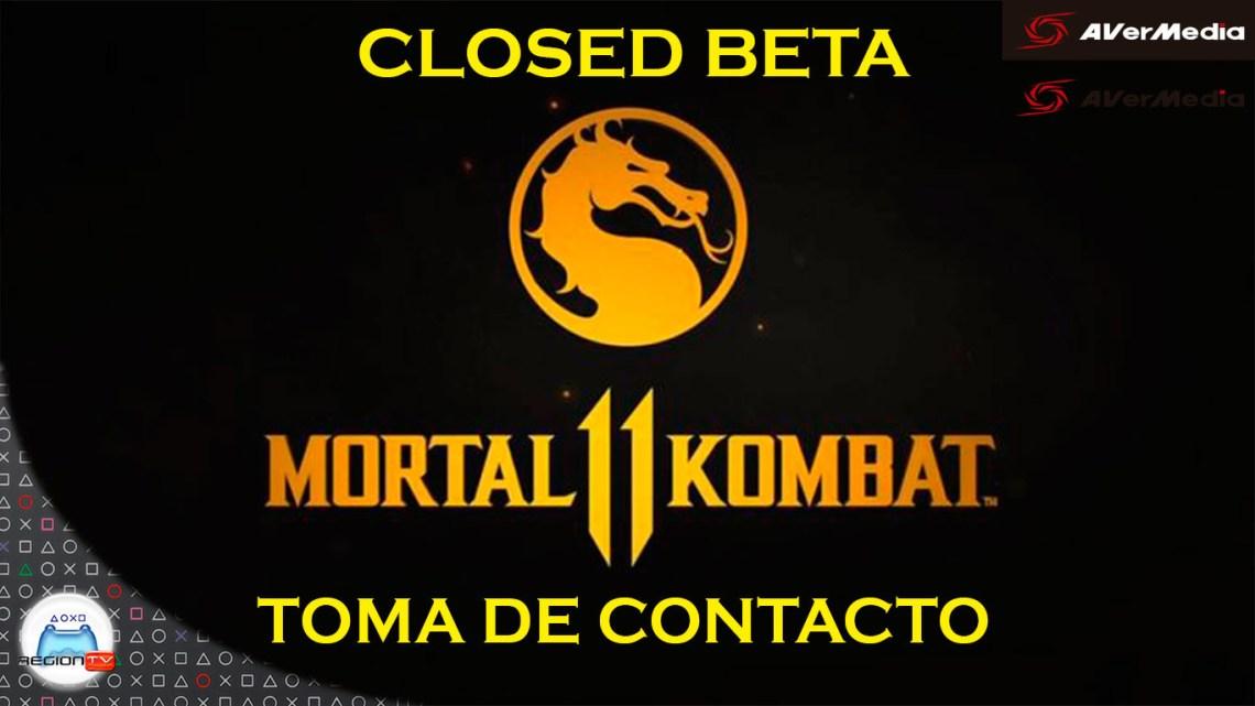 """Region TV  Toma de """"Kontacto""""   Mortal Kombat 11 (Beta cerrada)"""