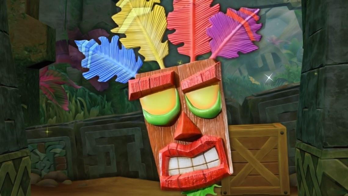 First 4 Figures anuncia una nueva figura de la máscara Aku Aku de Crash Bandicoot