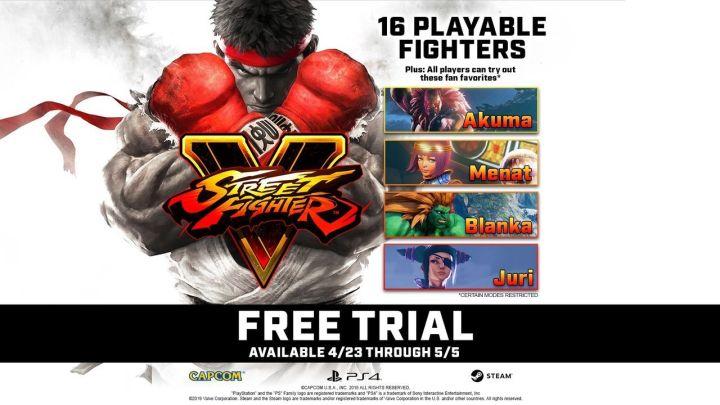 Street Fighter V: Arcade Edition se podrá jugar gratuitamente del 23 de abril al 5 de mayo