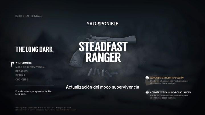 The Long Dark recibe la actualización del modo supervivencia Steadfast Ranger