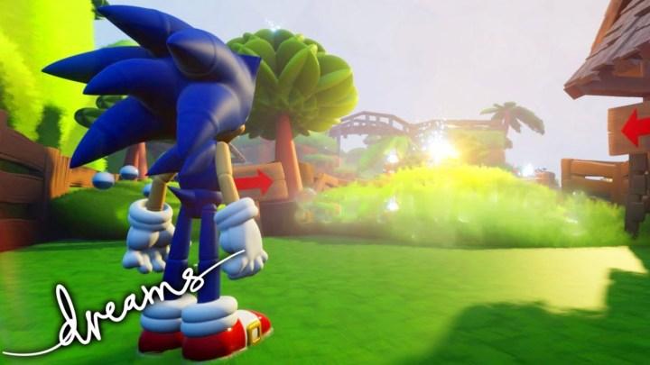 Dreams nos deja una fantástica recreación de Sonic