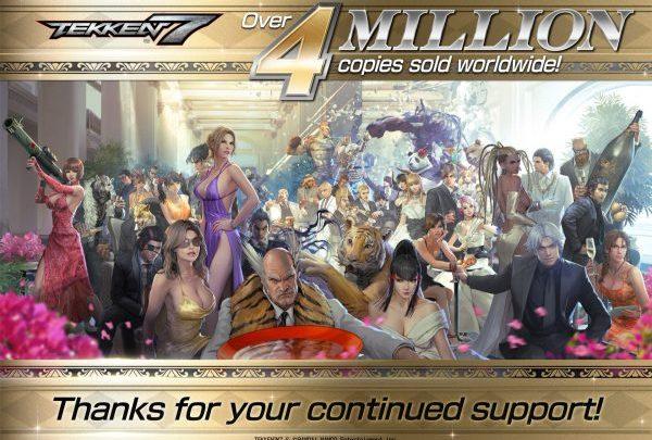 Tekken 7 supera los 4 millones de copias vendidas en todo el mundo