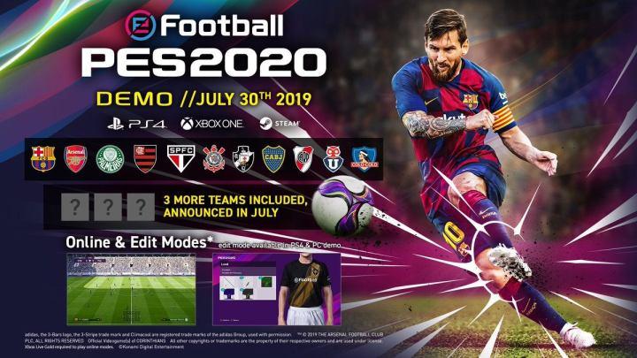 La demo de eFootball PES 2020 confirma su fecha de lanzamiento