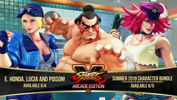 Honda, Lucia y Poison llegan a Street Fighter V Arcade en agosto