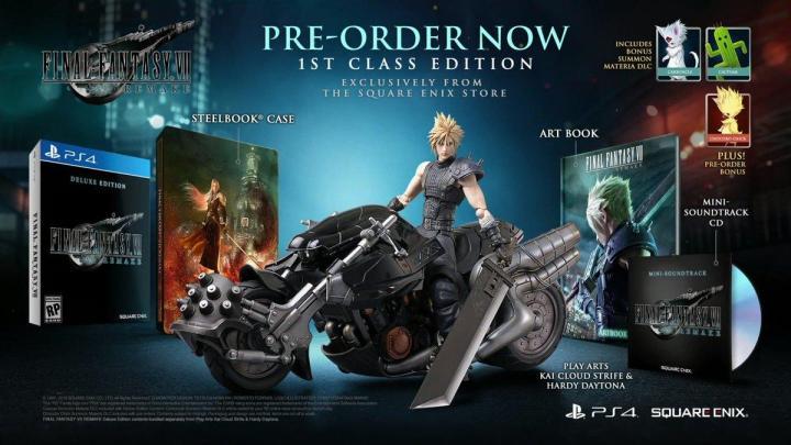 Nuevo tráiler detalla la espectacular figura de Cloud en la Hardy Daytona de la edición coleccionista de Final Fantasy VII Remake