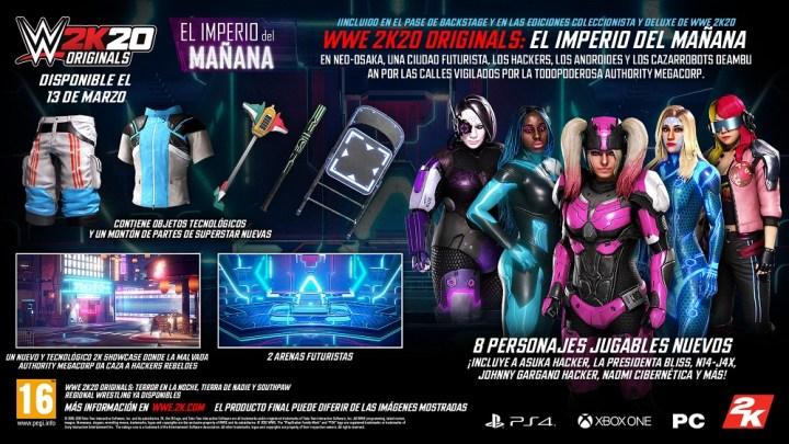 WWE 2K20 Originals: El Imperio del Mañana ya está disponible