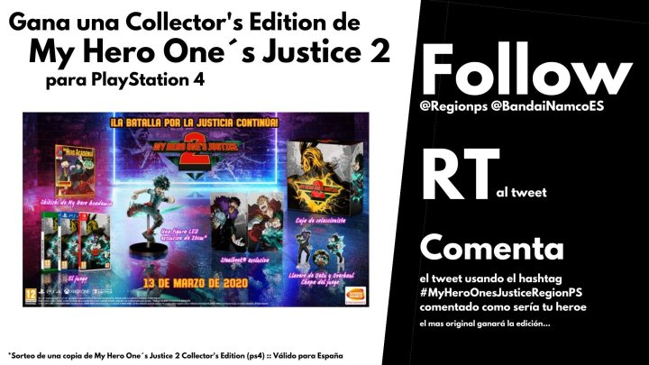 ¡Sorteamos una Collector's Edition de My Hero One's Justice 2 para PS4!