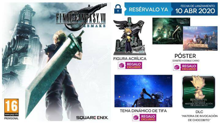 GAME suma un cuarto regalo a las reservas de Final Fantasy VII Remake