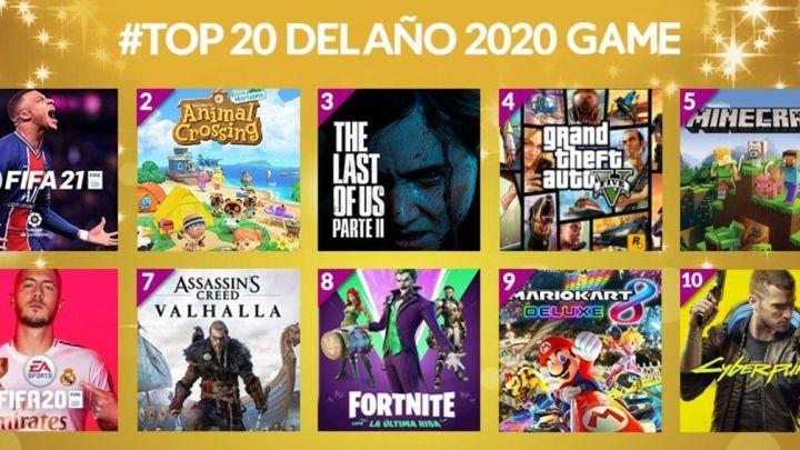 Estos fueron los 20 juegos más vendidos en GAME durante 2020