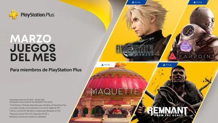 Ya disponible los juegos gratuitos de marzo de PlayStation Plus para PS5 y PS4