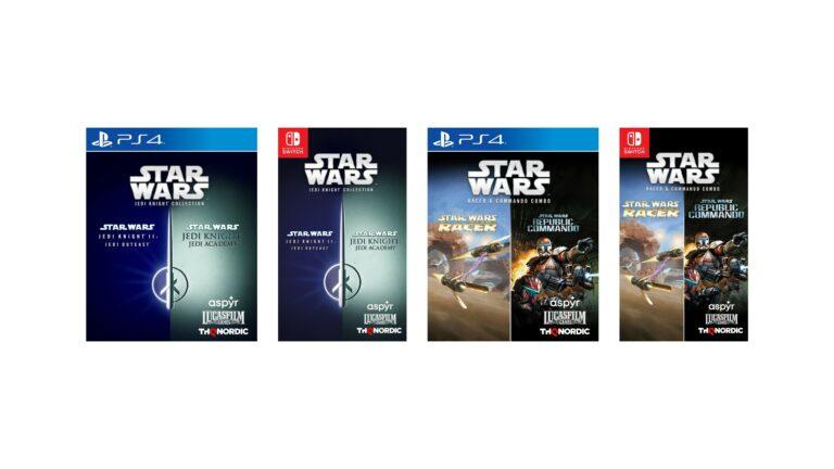 Star Wars Jedi Knight Collection y Star Wars Racer and Commando Combo llegan en formato físico a PS4 el 26 de octubre
