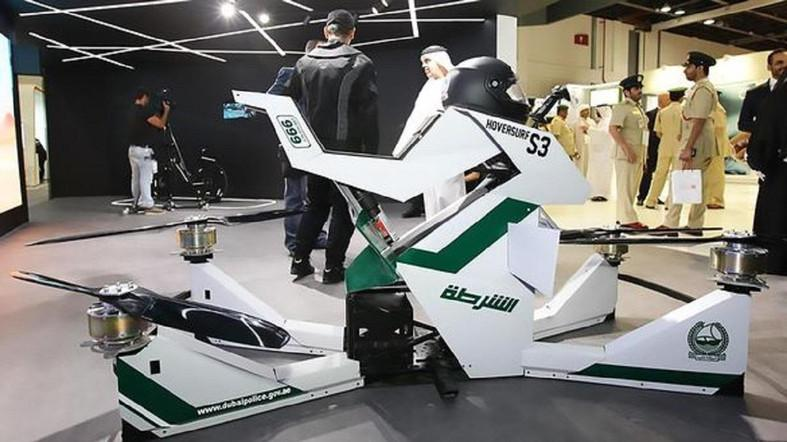dubai police colors on hoverbike