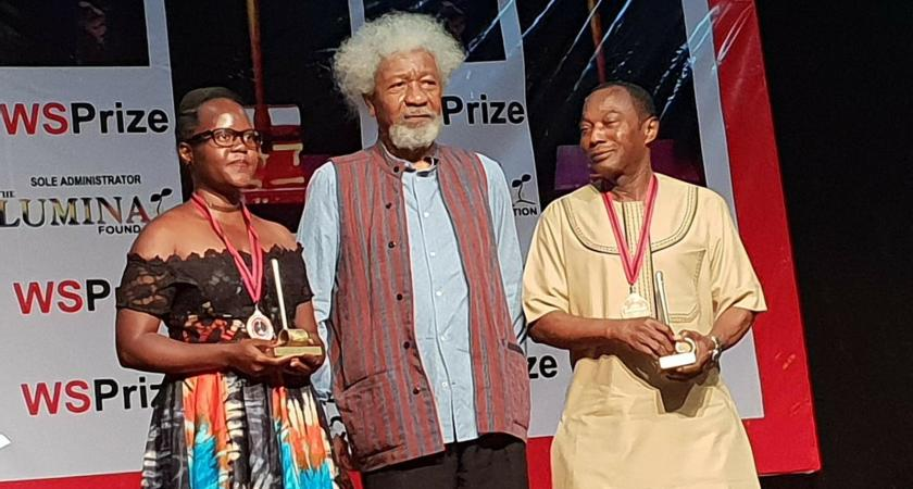 Mme. Harriet Anena, becomes the first Ugandan woman to win the 2018 Biennial Literature Award.