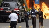 Kenya: One British and one American among 15 people killed in terrorist attack.