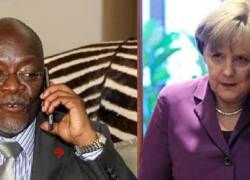 Tanzania's Magufuli and Germany's Merkel hold talks over investment.
