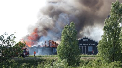 Photo of Grote brand (grip 1) Purmer Eend Kwadijk (fotoverslag)