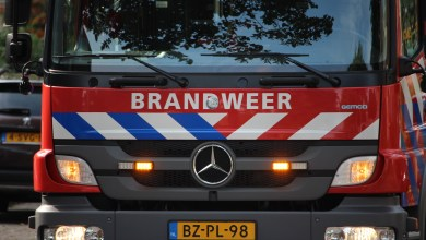 Photo of Bestelbus in brand op A7 (video)