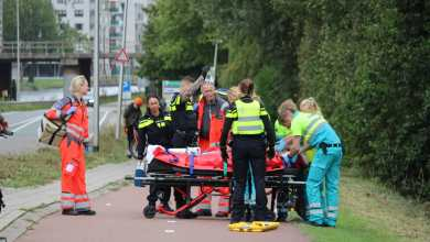 Photo of Fietser ten val: traumaheli ter plaatse