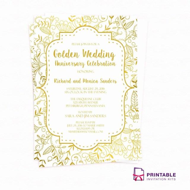 40Th Wedding Anniversary Invitations Inspirational Printable 40th Wedding Anniversary Invitations