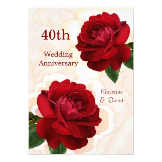 40Th Wedding Anniversary Invitations Ru Wedding Anniversary Invitation Cards Dutchgirlbrewery