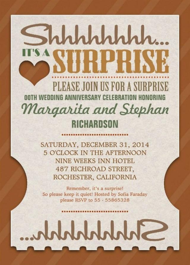 40Th Wedding Anniversary Invitations Surprise Wedding Anniversary Beautiful Invitations Wedding