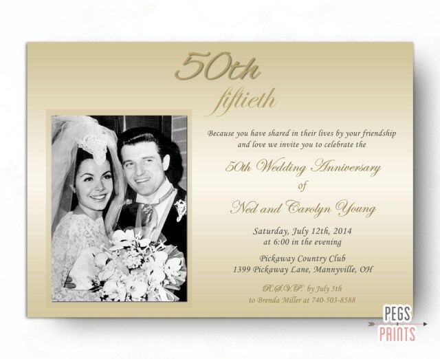 50Th Wedding Anniversary Invitations 50th Wedding Anniversary Invitations 50th Anniversary Etsy
