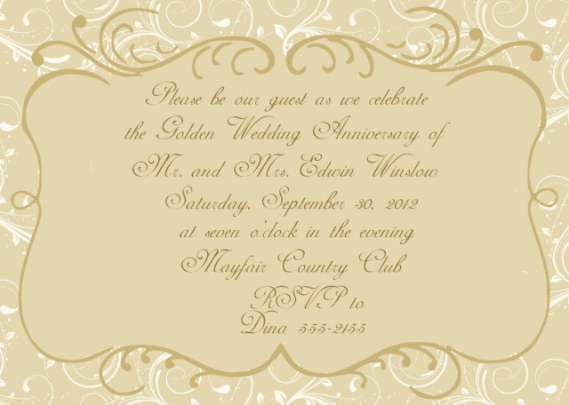50Th Wedding Anniversary Invitations Anniversary Invitations 50th 50th Wedding Anniversary Invitation