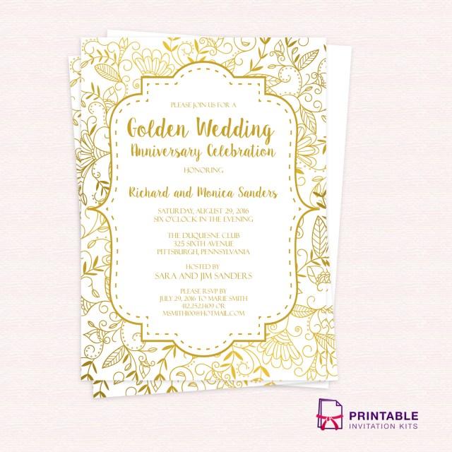 50Th Wedding Anniversary Invitations Golden Wedding Anniversary Invitation Amazing 50th Wedding